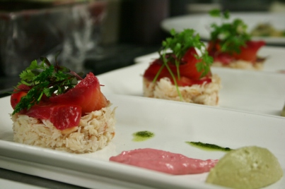 Crab and Cured Salmon