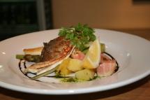 Wild sea bas, heritage beetroot, fennels